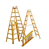 Holz-Doppelleiter