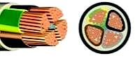 E-YY-J 5X6mm² Cu-Erdkabel 0,6/1KV , Schnittlänge 1m