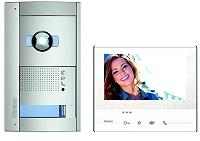 BTICINO 365811 Flex'ONE Videosprechanlage-Set 1 Familien mit Türstation SFERA + N & D-Kamera und Hausstation CLASSE 300 X13E