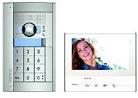 BTICINO 365911 Flex'ONE Videosprechanlage Set Einfamilein Set mit Türstation SFERA + Codelock und Hausstation CLASSE 300 X13E