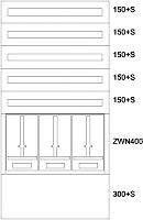 EATON BP-O-NN-800/15-3Z Zaehlerverteiler AP,VZ,3ZP,5NR,EVN,B800xH1560x262,5mm  138044
