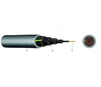 PVC-Steuerleitung umgeschirmt KABEL-LEITUNGEN YSLY-OZ 4X0,75 GR 50m