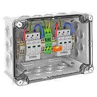 Ü-Spg Box, Typ 2 Ableiter, IP66, 2 MPP Tracker a 4 Stränge OBO BETTERMANN VG-CPV1000K 22