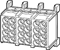 Hauptleitungklemme Fingersicher 400V 5pol. 4x25mm²rm/4x16 f HKL HLAC25-52