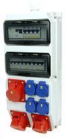Verteilerkombination CEE + Steckdosen  Strobl BV 2x16/5 3xSSD M25oBVu HKL Pc PC ELECTRIC 9025089