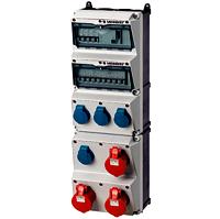 Steckdosen-Kombi Amaxx 5 4xSSTD 3X16/5 IP44 + Abs. MENNEKES AM 950003