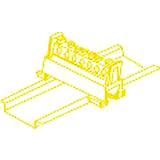 Schutzleiterklemmblock 7 Klemmstellen 16mm² HKL 651S/7