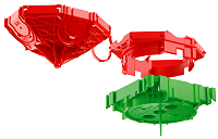 Beton-Deckendose 45° Durchmesser 60 mm