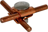 MMV-Klemme St/tZn f. Rd 6-8mm m. Flachrundschraube u. Mutter DEHN 390250