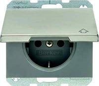K.5 SSD mit Klappdeckel estahl BERKER 47517204