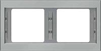 K.5 Rahmen 2fach waagrecht estahl BERKER 13637004