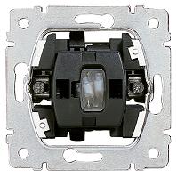 Legrand 775820 Kontroll-Wechsel beleuchtet mit roter Glimmlampe