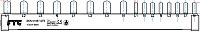 Phasenschiene für Siemens FI-4/LS-3+N/LS-1+N schmalbau FTG SKN0109-12TE