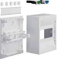Hager GD106N Miniverteiler 30V f.6 Module mit Klemmen IP30