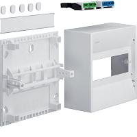 Hager GD108N 1-Reihig Miniverteiler 30V f. 8 Module m. Klemmen I