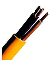 100 m XYMM-J 5x6 K35 gelb, PVC Baustellenleitung XC061113--