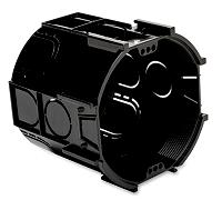 DIETZEL ASDT 70 O.D Kombi- Abzweig-Schalterdose, # 75 mm, 65 mm tief, schwarz