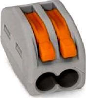 WAGO 222-412 2-Leiter-Klemme grau Bedienhebel 0,08–2,5mm²e 0,8-4mm²f