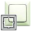 Legrand Rahmen 1-fach Creo mandelwei� 776 001
