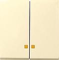 GIRA 063101 Serienwippen mit Kontroll-Fenster-cremeweiß glänzend
