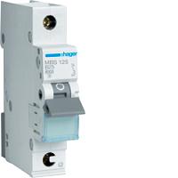 Hager MBS125 LS-Schalter 6kA/B/1P/25A, Quick Connect