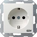 GIRA 045803 Steckdose, EDV- reinweiß glänzend