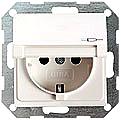 GIRA 045426 Steckdosen, mit Klappdeckel - alu