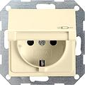 GIRA 041401 Steckdose, mit Klappdeckel U. erhöhtem Berührungssch