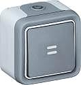 Legrand 069722 Feuchtraum Aufputztaster beleuchtet Grau