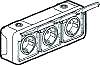 Legrand 069743 Feuchtraum Aufputz Schuko-Steckdose 3fach horzntl