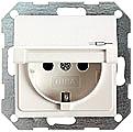 GIRA 041428 Steckdose, mit Klappdeckel u. erhöhtem Berührungssch