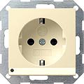 GIRA 117001 Steckdosen, mit LED-Orientierungsleuchte-creamweiß g