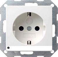 GIRA 117026 Steckdosen, mit LED-Orientierungsleuchte - al