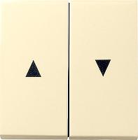 GIRA 029401 Wippe, 2fach, mit Symbol Auf/Ab - creamweiß glänzend