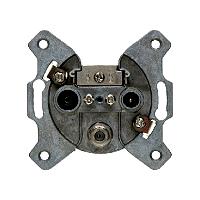 Berker 4523 Antennen-Steckdose 3Loch Durchgangsdose