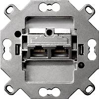 SIEMENS LP 5TG2026-2 DELTA Anschlussdose Universal-Anschluss-Einheit 2x8pol. RJ45
