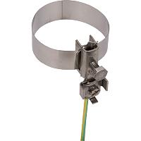 Erdungsbandrohrschelle NIRO 3/4-2 m. Anschlussklemme