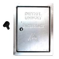 Revisionstüre mit Drehriegel verzinkt 230x180x15mm DIETZEL RT+DR/FV