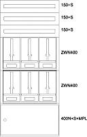 EATON BP-U-3S-NN-800/17-6Z Unterputz-Zaehlerverteiler Niederösterreich138051