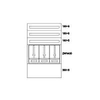 Aufputz-Zählerverteiler NOE EVN BP-O-NN-800/12-3Z