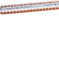 HAGER KDR463B Phasenschiene,4pol,10mm²,56mod,Gabel,abbrechbar