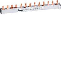 Hager Phasenschiene,4pol,10q,1FI,9LS,1+N