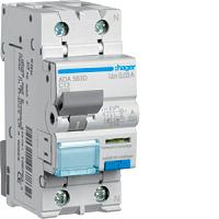 Hager ADA963D FI-LS 1P+N 6kA C-13A 30mA,pulsstrom
