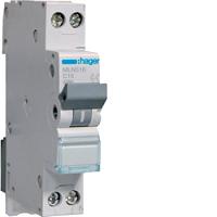 Hager MLN516 LS-Schalter 6KA,C,PH/N,16A,1M