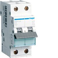 Hager MBN516 LS Schalter 6KA B PH+N 16A 2PLE