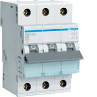 Hager MCN316 LS-Schalter 6KA,C,3pol,16A,anflanschbar