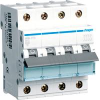 Hager MBN613 LS-Schalter 6KA,B,3+N,13A,anflanschbar