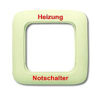 Busch & Jaeger 2511JH-212 Rahmen 1fach HEIZUNG-NOTSCHALTER w