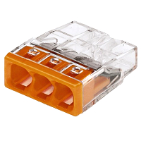 Wago 273-100 Compact-Dosenklemme 3x2,5mm², transparent/orange