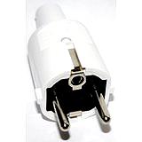 Schuko-PVC-Stecker mit Knickschutz, weiß